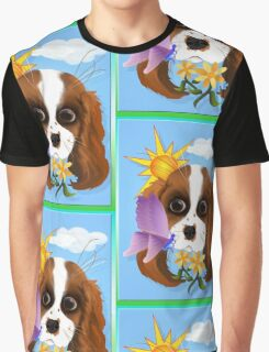 Puppy and Nature Graphic T-Shirt