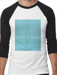 Teal Abstract Men's Baseball ¾ T-Shirt