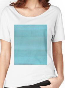 Teal Abstract Women's Relaxed Fit T-Shirt