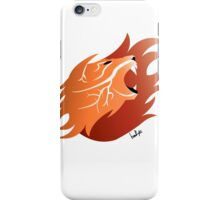 Fire Lion (White Back) iPhone Case/Skin