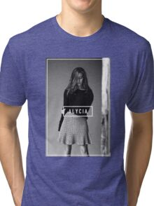 Alycia Debnam-Carey Black and White Name Tri-blend T-Shirt