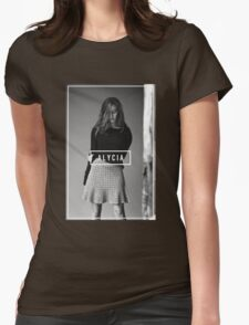 Alycia Debnam-Carey Black and White Name Womens Fitted T-Shirt