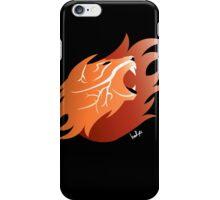 Fire Lion (Black Back) iPhone Case/Skin