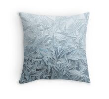 Ice Blue Frost Print Throw Pillow