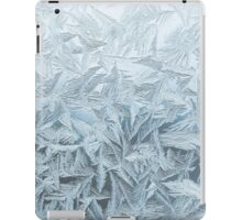 Ice Blue Frost Print iPad Case/Skin