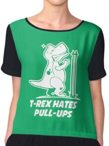 T Rex Hates PullUps Funny Dinosaurs  Chiffon Top