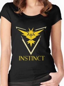 Team Instinct from Pokemon Go Women's Fitted Scoop T-Shirt
