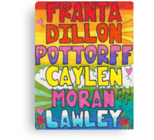 O2L 6/6 FOREVER HAND DRAWN NAMES Canvas Print