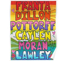 O2L 6/6 FOREVER HAND DRAWN NAMES Poster