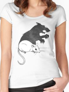 The Strange Case of Dr. Mouse and Mr. Rat Women's Fitted Scoop T-Shirt