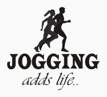 Jogging Adds Life One Piece - Short Sleeve