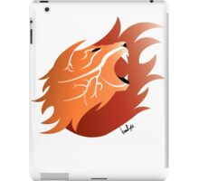 Fire Lion (White Back) iPad Case/Skin