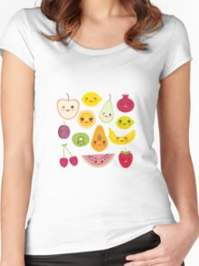 Fruit Pattern Women's Fitted Scoop T-Shirt