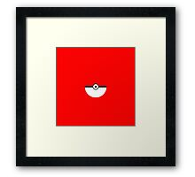 Pokemon Smooth Pokeball Framed Print