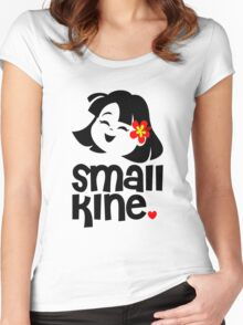 Small Kine - Laughing Hula Baby Women's Fitted Scoop T-Shirt