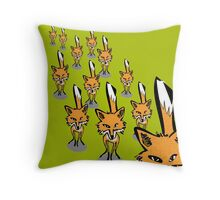 A rampage of foxes Throw Pillow