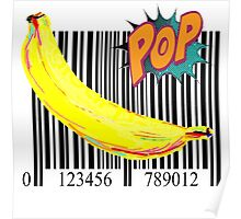 """Pop"" Barcode Banana by American Jank Brand Poster"