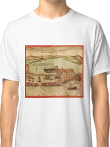 Asilah Vintage map.Geography Morocco ,city view,building,political,Lithography,historical fashion,geo design,Cartography,Country,Science,history,urban Classic T-Shirt
