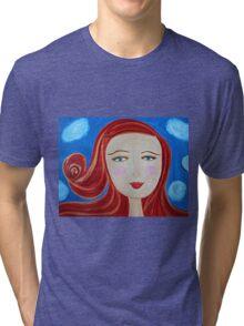 Girl Red Tri-blend T-Shirt