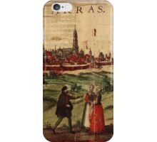 Arras Vintage map.Geography France ,city view,building,political,Lithography,historical fashion,geo design,Cartography,Country,Science,history,urban iPhone Case/Skin