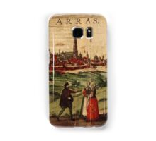Arras Vintage map.Geography France ,city view,building,political,Lithography,historical fashion,geo design,Cartography,Country,Science,history,urban Samsung Galaxy Case/Skin