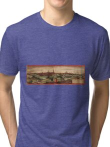Arras Vintage map.Geography France ,city view,building,political,Lithography,historical fashion,geo design,Cartography,Country,Science,history,urban Tri-blend T-Shirt
