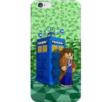 Time traveller in 8bit world iPhone Case/Skin