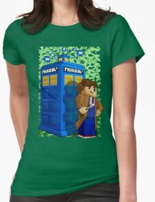 Time traveller in 8bit world Womens Fitted T-Shirt