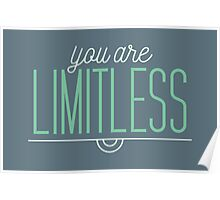 You Are Limitless - Typography Quote Poster