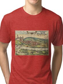 Arnsberg Vintage map.Geography Germany ,city view,building,political,Lithography,historical fashion,geo design,Cartography,Country,Science,history,urban Tri-blend T-Shirt