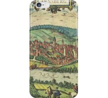 Arnsberg Vintage map.Geography Germany ,city view,building,political,Lithography,historical fashion,geo design,Cartography,Country,Science,history,urban iPhone Case/Skin