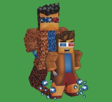 8bit boy with 10th Doctor shadow One Piece - Short Sleeve