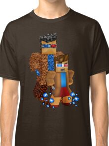 8bit boy with 10th Doctor shadow Classic T-Shirt