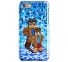 8bit boy with 10th Doctor shadow iPhone Case/Skin
