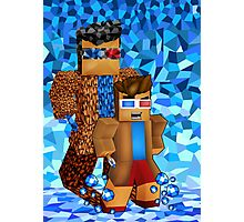 8bit boy with 10th Doctor shadow Photographic Print