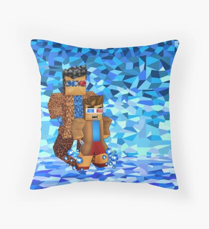 8bit boy with 10th Doctor shadow Throw Pillow