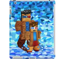 8bit boy with 10th Doctor shadow iPad Case/Skin