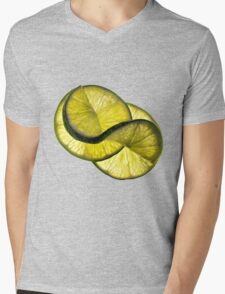 Cool lime twist Mens V-Neck T-Shirt