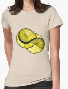 Cool lime twist Womens Fitted T-Shirt