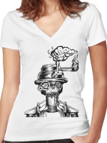 Oil and Rust Women's Fitted V-Neck T-Shirt