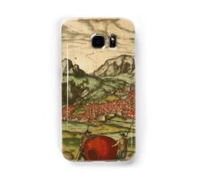 Antequera Vintage map.Geography Spain ,city view,building,political,Lithography,historical fashion,geo design,Cartography,Country,Science,history,urban Samsung Galaxy Case/Skin