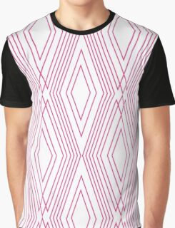 SImple Pattern-Pink Graphic T-Shirt
