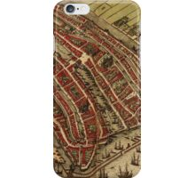 Amsterdam Vintage map.Geography Netherlands ,city view,building,political,Lithography,historical fashion,geo design,Cartography,Country,Science,history,urban iPhone Case/Skin