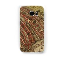 Amsterdam Vintage map.Geography Netherlands ,city view,building,political,Lithography,historical fashion,geo design,Cartography,Country,Science,history,urban Samsung Galaxy Case/Skin