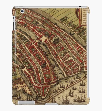 Amsterdam Vintage map.Geography Netherlands ,city view,building,political,Lithography,historical fashion,geo design,Cartography,Country,Science,history,urban iPad Case/Skin