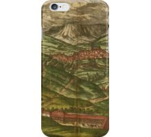 Alham Vintage map.Geography Germany ,city view,building,political,Lithography,historical fashion,geo design,Cartography,Country,Science,history,urban iPhone Case/Skin