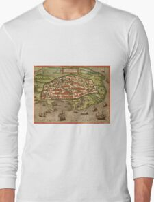 Alexandria Vintage map.Geography Egypt ,city view,building,political,Lithography,historical fashion,geo design,Cartography,Country,Science,history,urban Long Sleeve T-Shirt