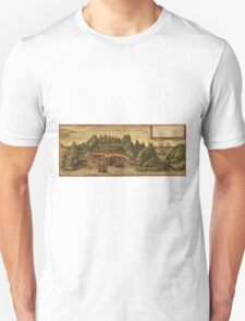 Aden Vintage map.Geography Yemen ,city view,building,political,Lithography,historical fashion,geo design,Cartography,Country,Science,history,urban Unisex T-Shirt