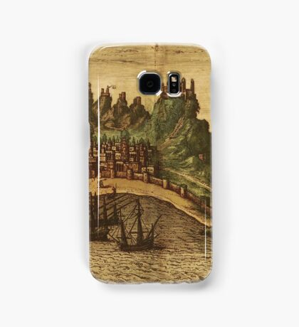Aden Vintage map.Geography Yemen ,city view,building,political,Lithography,historical fashion,geo design,Cartography,Country,Science,history,urban Samsung Galaxy Case/Skin