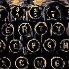 Vintage Typewriter Keyboard Keys Black And White Original Acrylic Artwork by JamesPeart